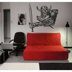 Viking Knight Warrior Wall Vinyl Sticker Decals Art Mural
