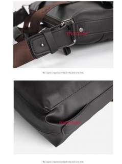 New Mens Vintage Faux Leather Business IT Shoulder Messenger Bag