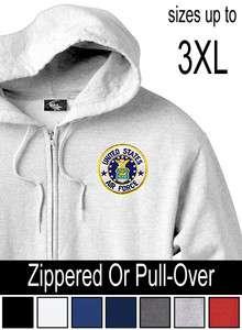 UNITED STATES AIR FORCE Unisex HOODIE Zip/Pull Over Hoody 7 Colors