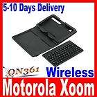 Leather Case Stand Cover Wireless Bluetooth Keyboard for Motorola Xoom