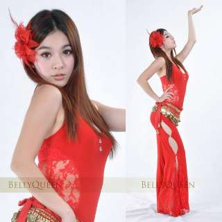 Belly Dance Costume (2pcs/set,top+pants) Womens Dancewear Dancing