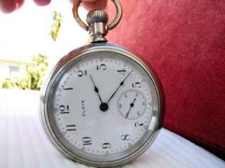 THIS AUCTION UP FOR THE ANTIQUE ELGIN POCKET WATCH   SIZE 18   YEAR