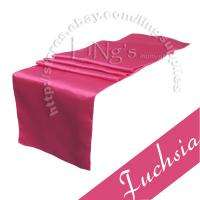 12 x 108 Fuchsia Satin Table Runner Wedding Party Banquet Decoration