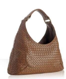 Bottega Veneta brown woven leather New Ball hobo