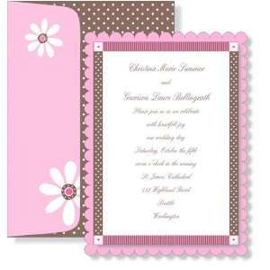Girl Baby Shower Invitations   Cocoa Blush Topper Invitation