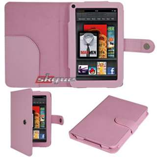 protection botton leather case cover for  kindle fire 7in tablet