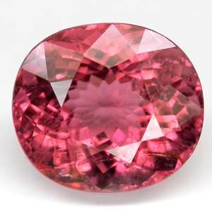 80cts~LUSTROUS OVAL PEACH PINK NATURAL TOURMALINE