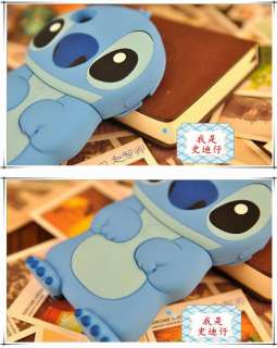 86Hero Disney 3D Stitch Hard Case Cover for iPhone 4 4S Blue