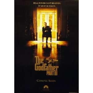 Godfather III Real Power Al Pacino 27x39 Poster Home