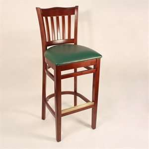 Factory Direct 7251H CHGR School House Four Bar Stool