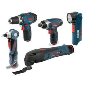 Bosch CLPK50 120 RT 12V Max Cordless Lithium Ion 5 Tool Combo Kit