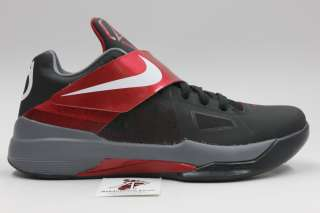 KD IV BASKETBALL SHOES NEW KEVIN DURANT AUTHENTIC BLACK RED 473679 003