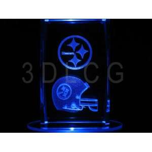 NFL Pittsburgh Steelers 3D Laser Etched Crystal S1