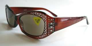 Womens 1.25 Full Sun Reading Glasses Ladys Sun Readers Amber Brown