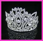 Wedding Bridal crystal veil tiara crown headband CR209 items in Come