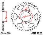 JT REAR Sprocket: SUZUKI LT 230 S LT230 S 1985 1988 44T