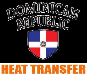 DOMINICAN REPUBLIC 3 Heat Transfer paper Decal 25pcs S
