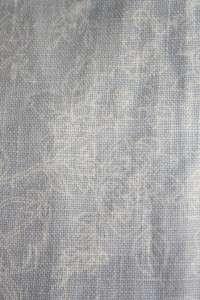 Linen Sundress Shift Womens 6 Blue White Floral Print Toile Lagenlook
