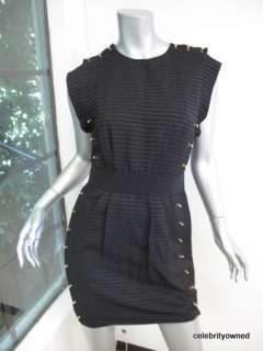 NWT 3.1 Phillip Lim Black Gold Ball Pencil Dress 4 $625