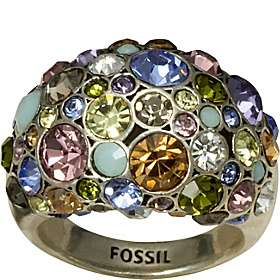 Fossil Multi Colored Jeweled Dome Ring   Size 7