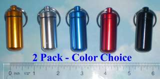 Aluminum Medicine (Pill) Bottle style Container with Key Ring