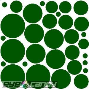 34 Forest Green Polka Dots Wall Stickers Decals Words