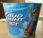 Bud Light UFC Galvanized Metal Beer Brew Ice Bucket MMA Brand New