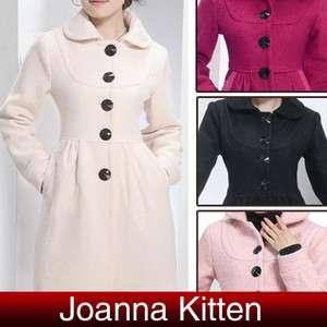 New Korean womens long woolen warm coats Jacket 4colors 3 Size Hot