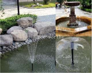 Solar Power Submersible Fountain Pond Brushless Water Pump, solar pump