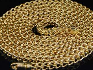 10K 3.5MM YELLOW & WHITE GOLD FRANCO BOX CHAIN NECKLACE