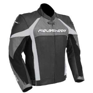 Razor Mens Leather Motorcycle Jacket Gunmetal/Black 40 Automotive