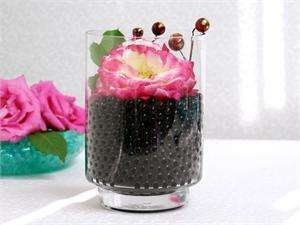 6oz Black Water Pearls Wedding Vase Centerpiece Filler