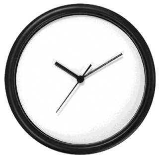 10 inch BLANK WALL CLOCK with BLACK PLASTIC CASE