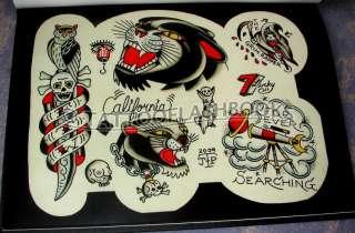 JASON PHILLIPS Tattoo Flash Sheets Gun Kit Ink BOOK