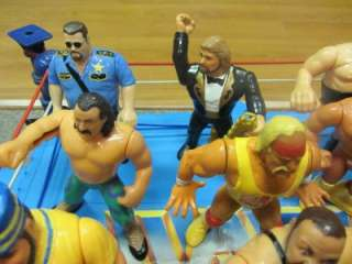 VINTAGE 80S 90S WWF WRESTLING RING AND ACTION FIGURE LOT TNA WWE WCW