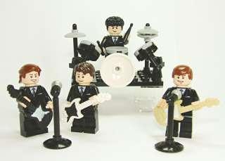 Beatles Custom Minifigures * John Paul George Ringo with Instruments