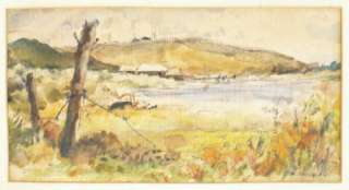 Ruth Baderian Listed Artist New York Signed Watercolor