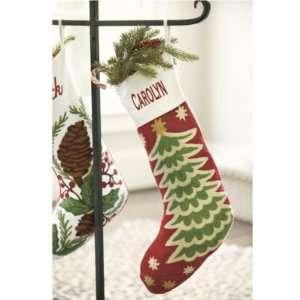 Christmas Tree Chain Stitch Stocking  Ballard Designs
