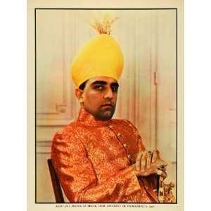 India Azam Jah Prince Berar Portrait Royalty Costume Fashion Jewelry