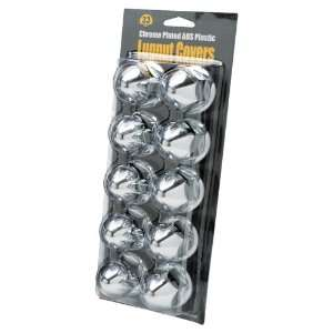 3310P 33mm Flanged Chrome Plated ABS Plastic Lug Nut Cover   10 Pack