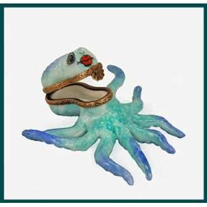 Blue Octopus French Limoges Box