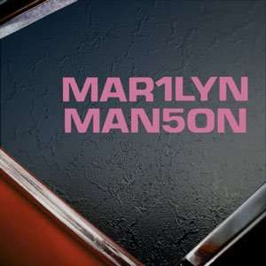Marilyn Manson Pink Decal Metal Band Truck Window Pink