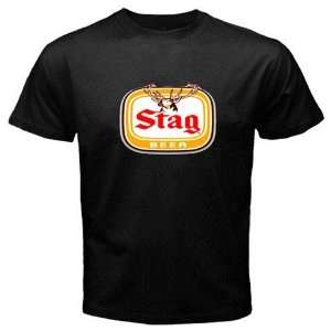 Stag Beer Logo New Black T shirt Size 3XL