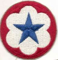 ARMY SERVICE FORCES COMMAND PATCH **WWII ORIG**   cut