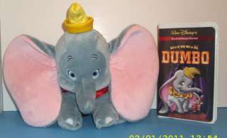 Dumbo (VHS, 2001, 60th Anniversary Edition) & DUMBO TOY