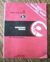 John Deere 425 Offset Disk Harrow Operators Manual jd |