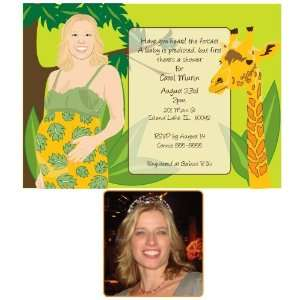 NEW 1003 Jungle Baby Shower Invitations Health