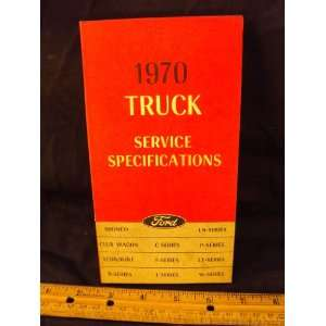 Ford Truck Service Specifications Manual Ford Motor Company Books