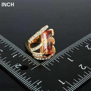 Arinna hand clasp shape fashion finger Ring yellow gold GP 18k