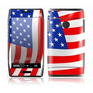 Love America Design Decorative Skin Cover Decal Sticker for Nokia X7